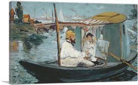 Monet in His Floating Studio 1874