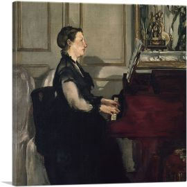 Madame Manet at the Piano 1883