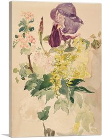 Flower Piece with Iris 1880