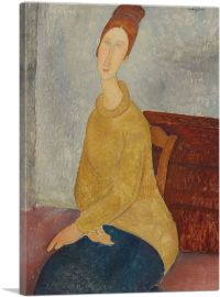 Jeanne Hebuterne with Yellow Sweater 1919