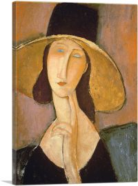 Portrait of Jeanne Hebuterne in a Large Hat 1918