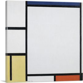 Composition with Blue, Red, Yellow, and Black 1922