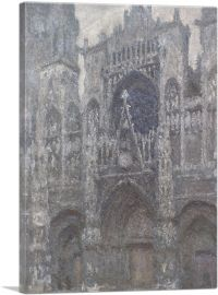 Rouen Cathedral Grey Weather 1894