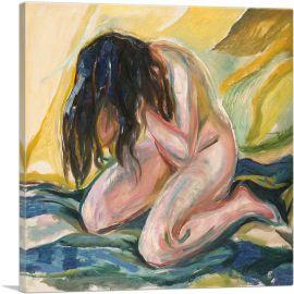 Kneeling Female Nude Crying 1919
