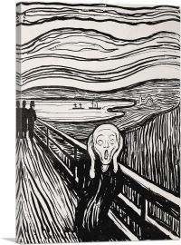 The Scream Black and White 1895