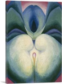 Series I White & Blue Flower Shapes 1919