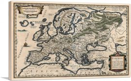 A Semi-Ptolemaic Map of Europe 1618