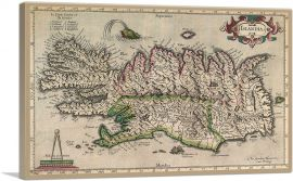 Map of Iceland 1595