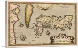 Map of Japan and Korea 1592