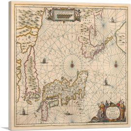 Map of Japan and Korea 1658