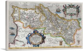 Map of Portugal 1579