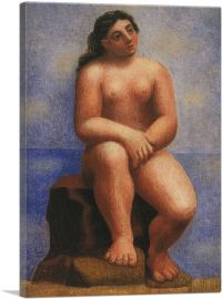 Nude Seated on a Rock 1921