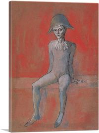 Seated Harlequin with a Red Background 1905