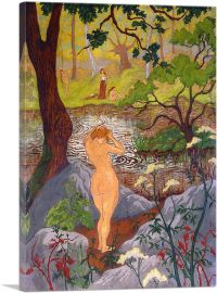 Nude Fixing Her Hair by a Pond 1897