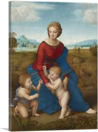 Madonna of the Meadow - The Madonna with the Christ Child and Saint John the Baptist 1506