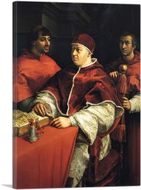 Portrait of Pope Leo X with Two Cardinals 1519