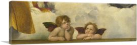 Sistine Madonna - Two Angels Detail - Panoramic 1513
