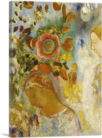 Two Young Girls Among Flowers 1912