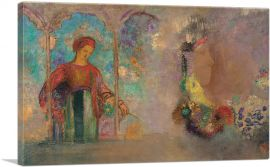 Woman in a Gothic Arcade - Woman with Flowers 1905