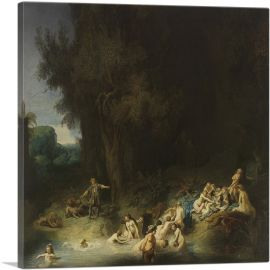 Diana Bathing with her Nymphs with Actaeon and Callisto 1634
