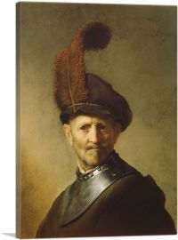 Old Man In Military Costume 1631