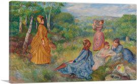 Girls Playing Battledore and Shuttlecock 1887