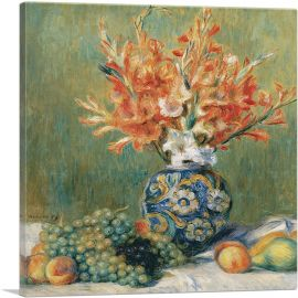 Still Life Flowers and Fruit 1889