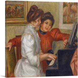 Yvonne and Christine Lerolle at the Piano 1898