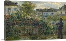 Monet Painting His Garden at Argenteuil 1873