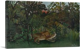 The Hungry Lion Throws Itself on the Antelope 1905
