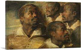 Four Studies of a Head of a Moor 1640
