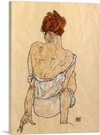 Femme Assise En Sous-Vetements 1917