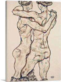 Naked Girls Embracing 1914