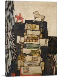 Schiele's Desk 1914