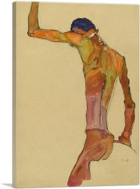 Standing Male Nude with Arm Raised, Back View 1910