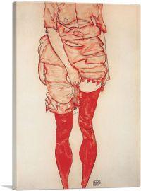 Stehende Frau in Rot 1913