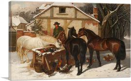 Watering Horses in Winter