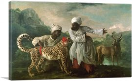 A Cheetah and Stag with Two Indian Attendants 1765