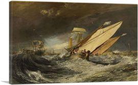 Fishing Boats Entering Calais Harbor 1803